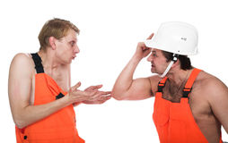Two workers Stock Photo