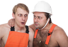 Two workers Royalty Free Stock Image