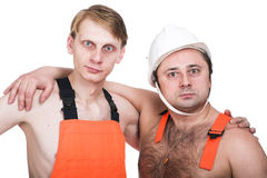 Two workers stock photos