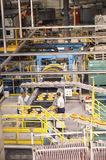 Brake discs' factory Stock Images