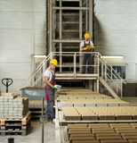 Two workers on a factory Stock Images