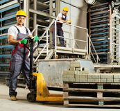 Two workers on a factory Royalty Free Stock Photography