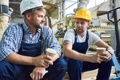 Free Two Workers On Coffee Break Royalty Free Stock Images - 112501479