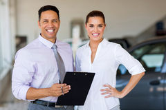 Two workers showroom Stock Photography