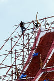 Two Workers working on the Scaffold Stock Photography