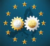 Two working Euro Stock Photos