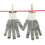 Two working gloves Stock Images