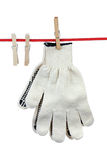Two working gloves Royalty Free Stock Images