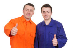 Two workman Royalty Free Stock Photo