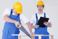 Two workmen Royalty Free Stock Image