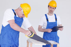 Two workmen Stock Photography