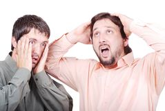 Two worried man Royalty Free Stock Images