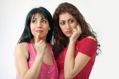 Two worried women Stock Photos