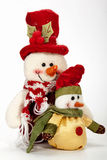 Two Wrapped-up Snowmen as Christmas Tree Decorations Stock Photography