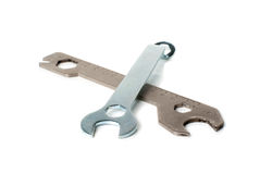 Two wrenches. Royalty Free Stock Images