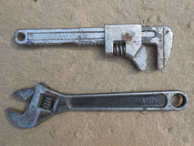 Two wrenches Royalty Free Stock Image
