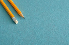 Two writing pencils Royalty Free Stock Photo