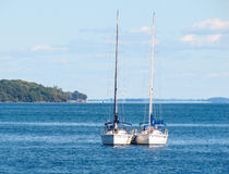 Two yachts on the lake Ontario, Canada Stock Photo