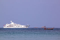 Two yachts Royalty Free Stock Image