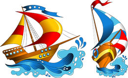 Two yachts Royalty Free Stock Images