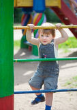 Two-year child at playground Stock Photos