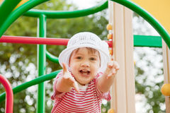 Two-year child at playground Royalty Free Stock Image