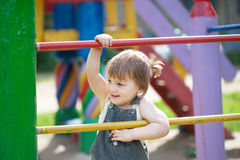 Two-year child at playground Royalty Free Stock Images