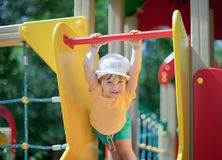 Two-year child at playground Stock Image