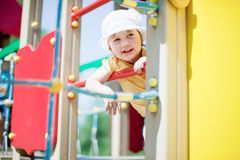 Two-year child at playground Stock Photography