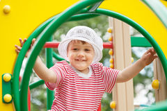 Two-year child at playground area Stock Photography