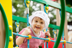 Two-year child at playground area Stock Image