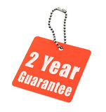 Two year guarantee. Tag isolated on white  background Royalty Free Stock Photo