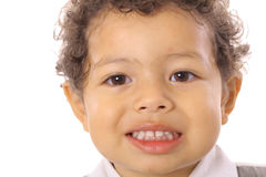 Two year old smiling. Shot of a two year old smiling Stock Images