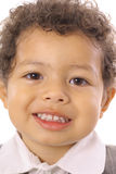 Two year old smiling vertical. Shot of two year old smiling vertical Royalty Free Stock Photos