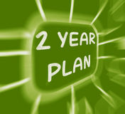 Two Year Plan Diagram Displays 2 Year Planning Stock Photography