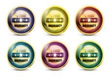 Two Year Warranty. Colorful Two Year Warranty Button Set Royalty Free Illustration