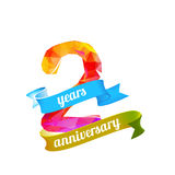 2 two years anniversary. Royalty Free Stock Image