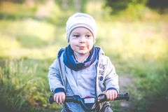 Two years child outdoors portrait royalty free stock photo