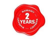 Two years warranty seal Stock Photo