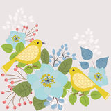 Two yellow birds Royalty Free Stock Photo