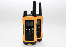 Two yellow and black portable radio set Stock Images