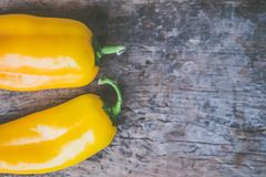 Two Yellow Chili Peppers Stock Photo