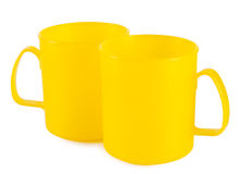 Two yellow cup royalty free stock image