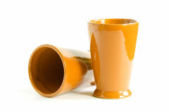 Two yellow cups Royalty Free Stock Photo