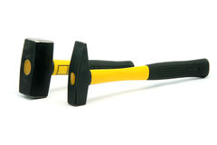 Two yellow hammers Royalty Free Stock Images