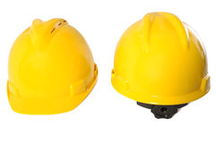 Two Yellow Helmet Royalty Free Stock Photography