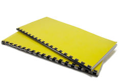 Two yellow notebooks Royalty Free Stock Photos