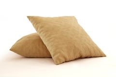 Two yellow pillows Stock Images