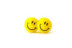 Two yellow smilies Royalty Free Stock Photos
