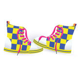 Two yellow sneakers Royalty Free Stock Photos